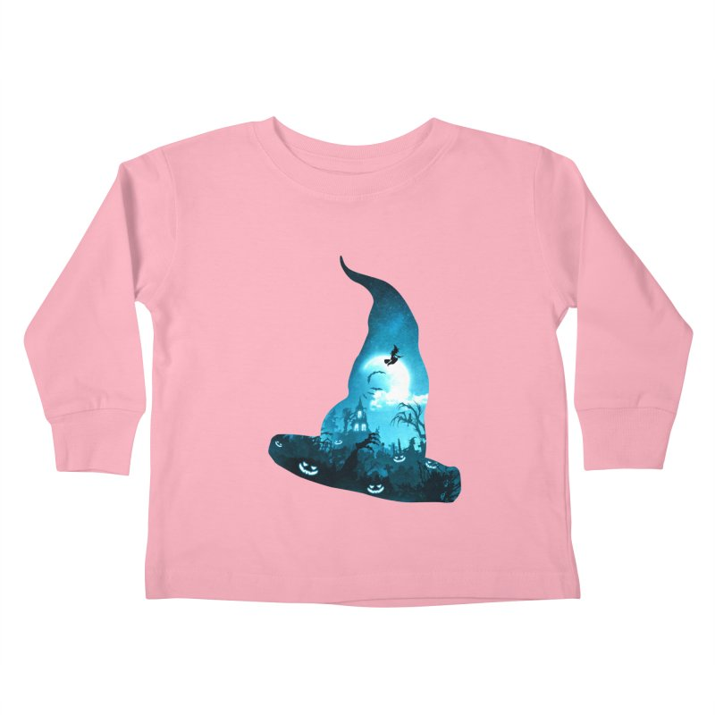 The Witches Hour Kids Toddler Longsleeve T-Shirt by DVerissimo's