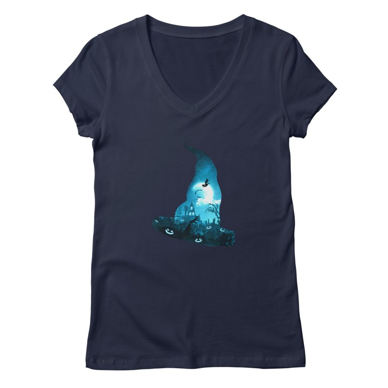 The Witches Hour Women's Regular V-Neck by DVerissimo's