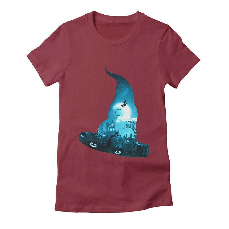 The Witches Hour Women's Fitted T-Shirt by DVerissimo's