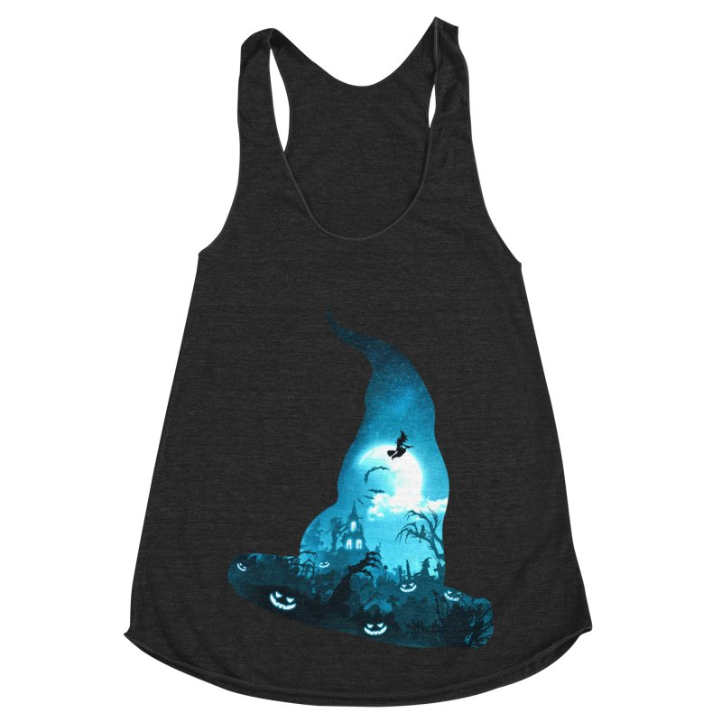 The Witches Hour Women's Racerback Triblend Tank by DVerissimo's