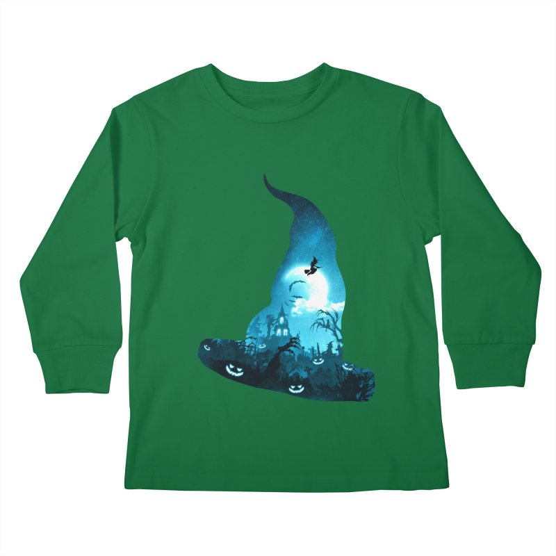 The Witches Hour Kids Longsleeve T-Shirt by DVerissimo's