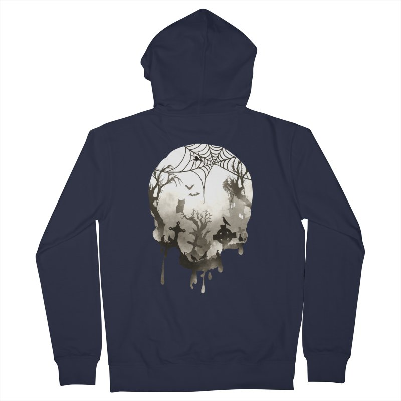 The Darkest Hour Men's French Terry Zip-Up Hoody by DVerissimo's