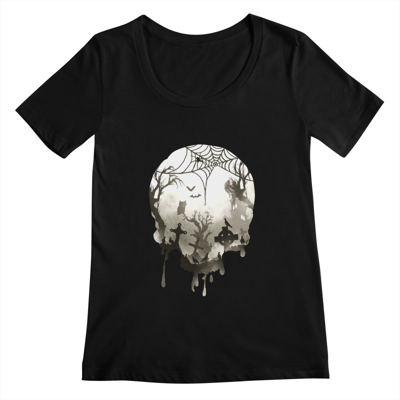 The Darkest Hour Women's Scoopneck by DVerissimo's