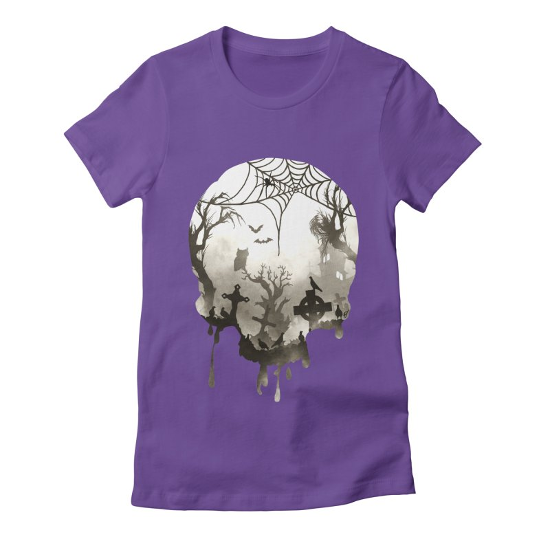The Darkest Hour Women's Fitted T-Shirt by DVerissimo's