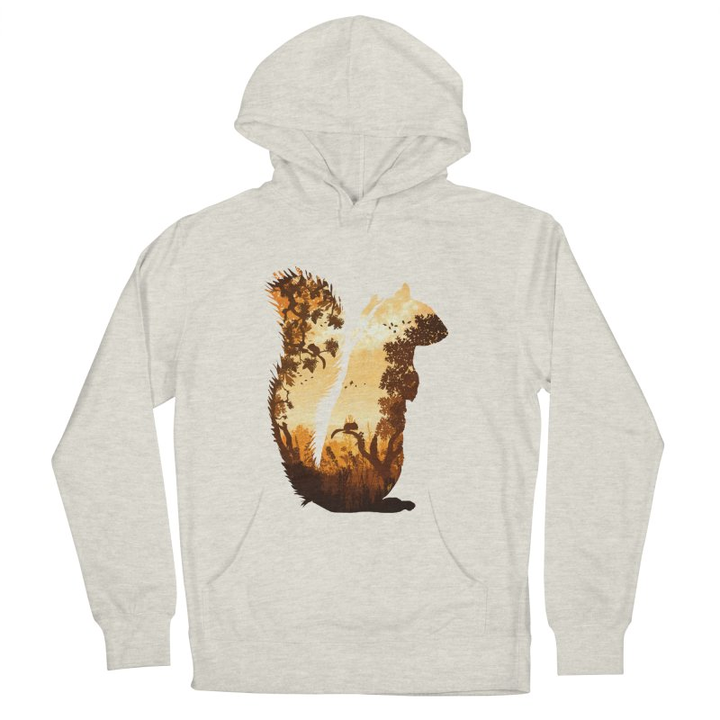Squirrels in the Fall Men's French Terry Pullover Hoody by DVerissimo's