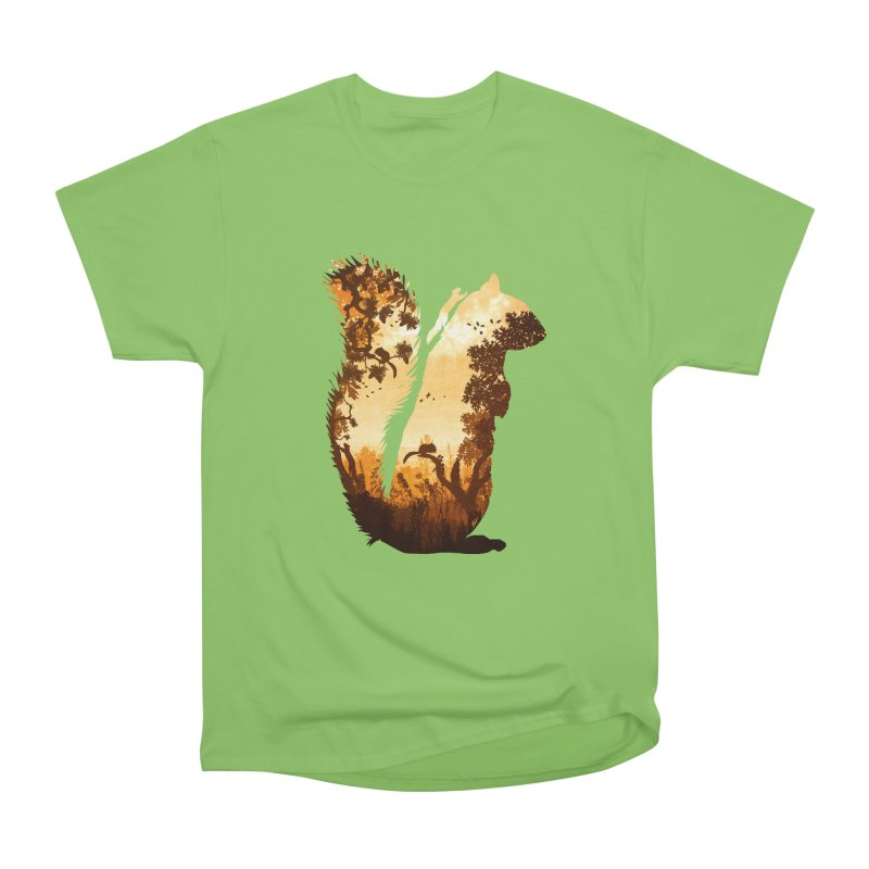 Squirrels in the Fall Women's Heavyweight Unisex T-Shirt by DVerissimo's