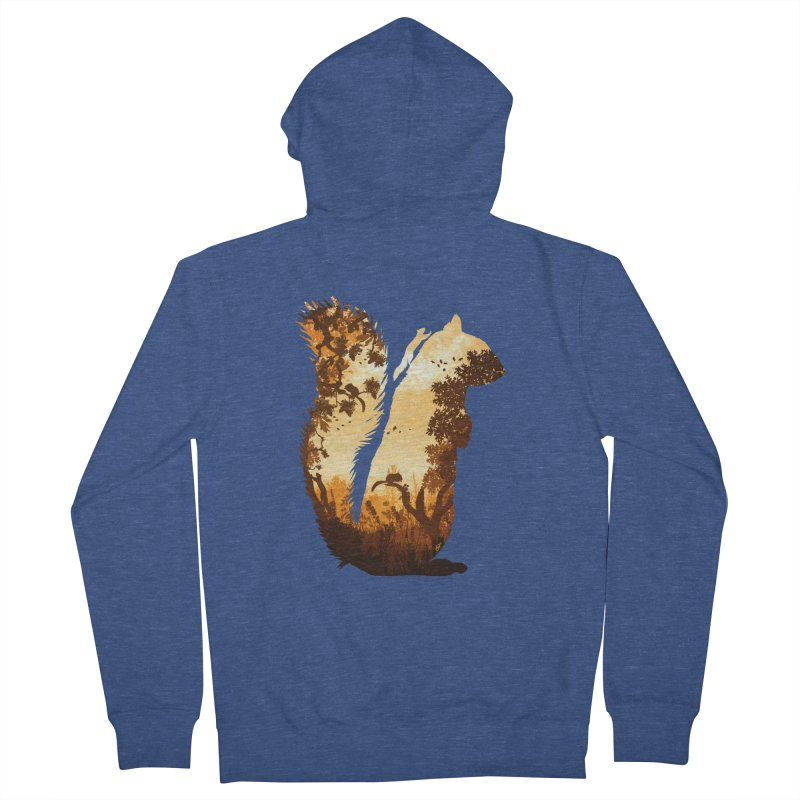 Squirrels in the Fall Men's Zip-Up Hoody by DVerissimo's