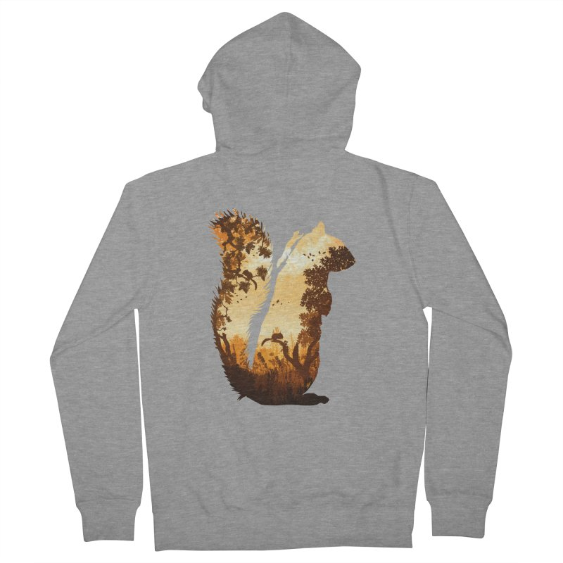 Squirrels in the Fall Men's French Terry Zip-Up Hoody by DVerissimo's