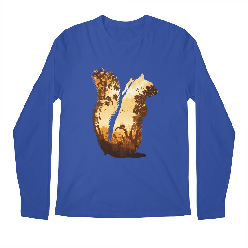 Squirrels in the Fall Men's Regular Longsleeve T-Shirt by DVerissimo's