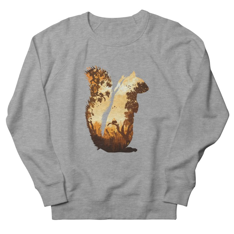 Squirrels in the Fall Women's French Terry Sweatshirt by DVerissimo's