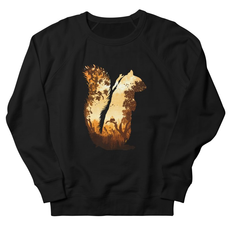 Squirrels in the Fall Men's French Terry Sweatshirt by DVerissimo's