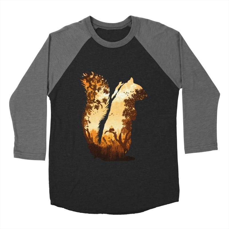 Squirrels in the Fall Men's Baseball Triblend Longsleeve T-Shirt by DVerissimo's