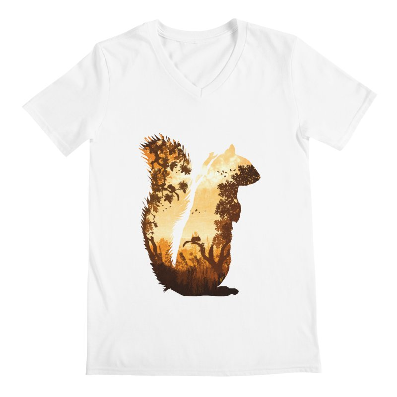 Squirrels in the Fall Men's V-Neck by DVerissimo's