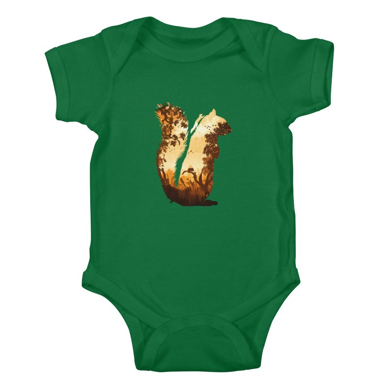 Squirrels in the Fall Kids Baby Bodysuit by DVerissimo's