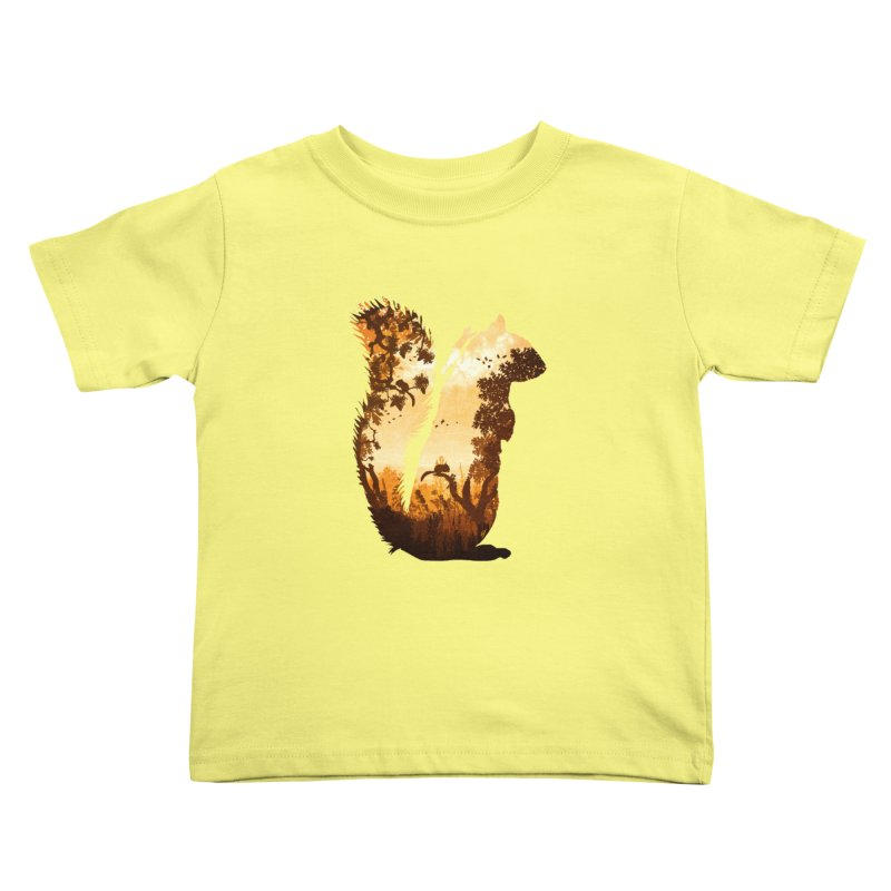 Squirrels in the Fall Kids Toddler T-Shirt by DVerissimo's