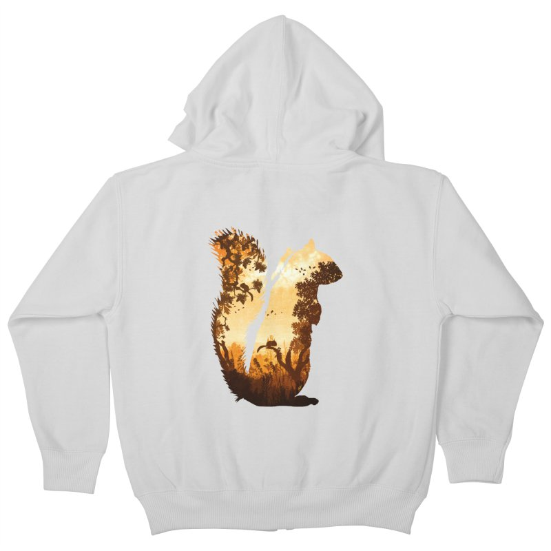 Squirrels in the Fall Kids Zip-Up Hoody by DVerissimo's