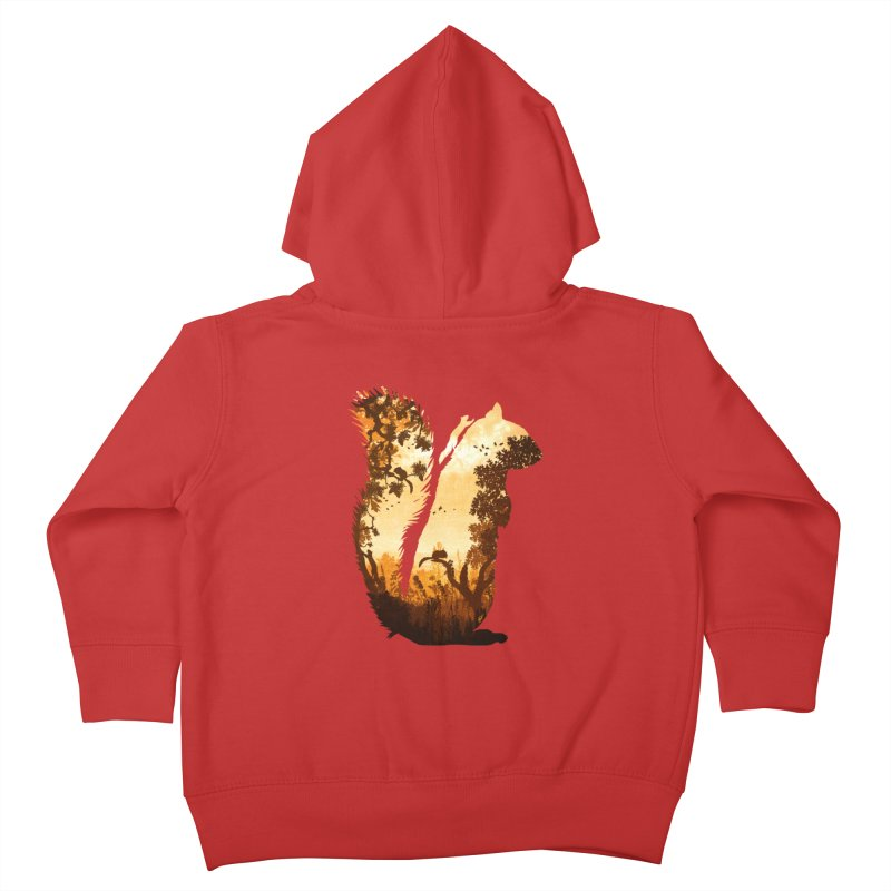 Squirrels in the Fall Kids Toddler Zip-Up Hoody by DVerissimo's