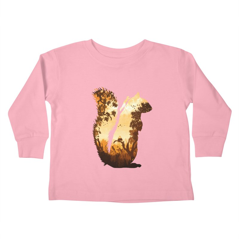 Squirrels in the Fall Kids Toddler Longsleeve T-Shirt by DVerissimo's