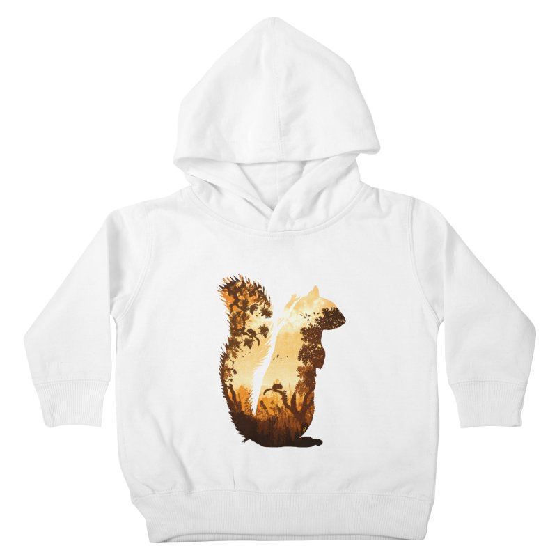 Squirrels in the Fall Kids Toddler Pullover Hoody by DVerissimo's