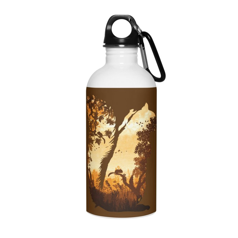 Squirrels in the Fall Accessories Water Bottle by DVerissimo's
