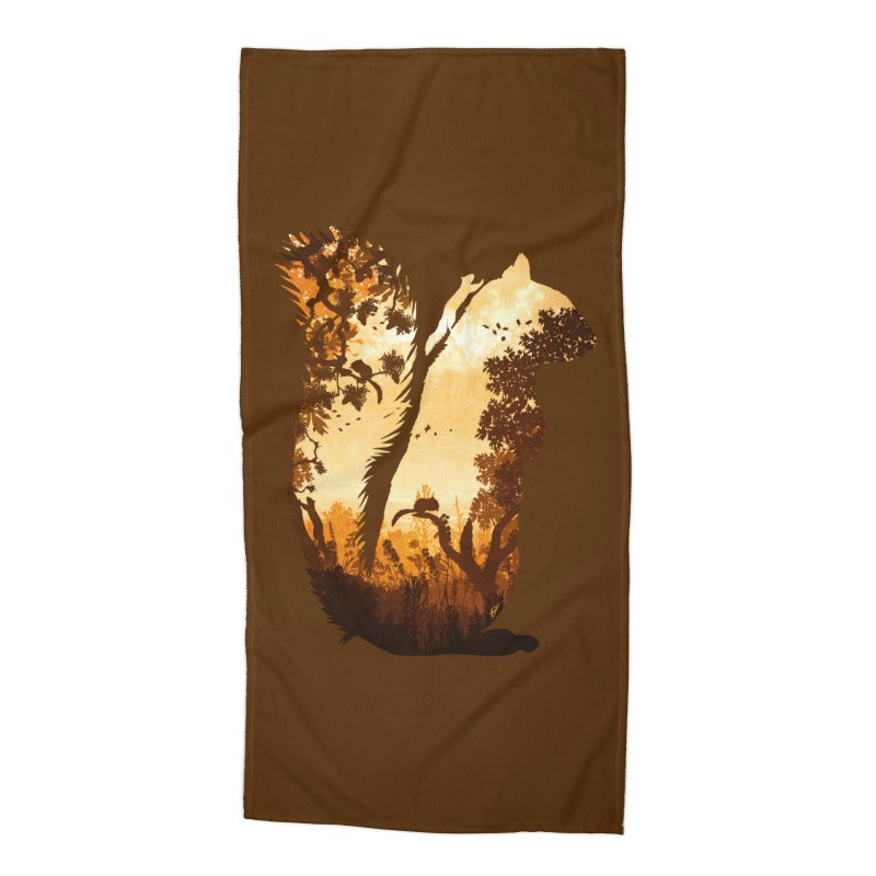 Squirrels in the Fall Accessories Beach Towel by DVerissimo's