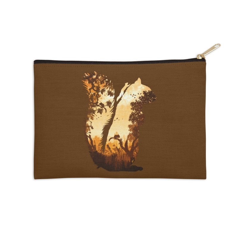 Squirrels in the Fall Accessories Zip Pouch by DVerissimo's