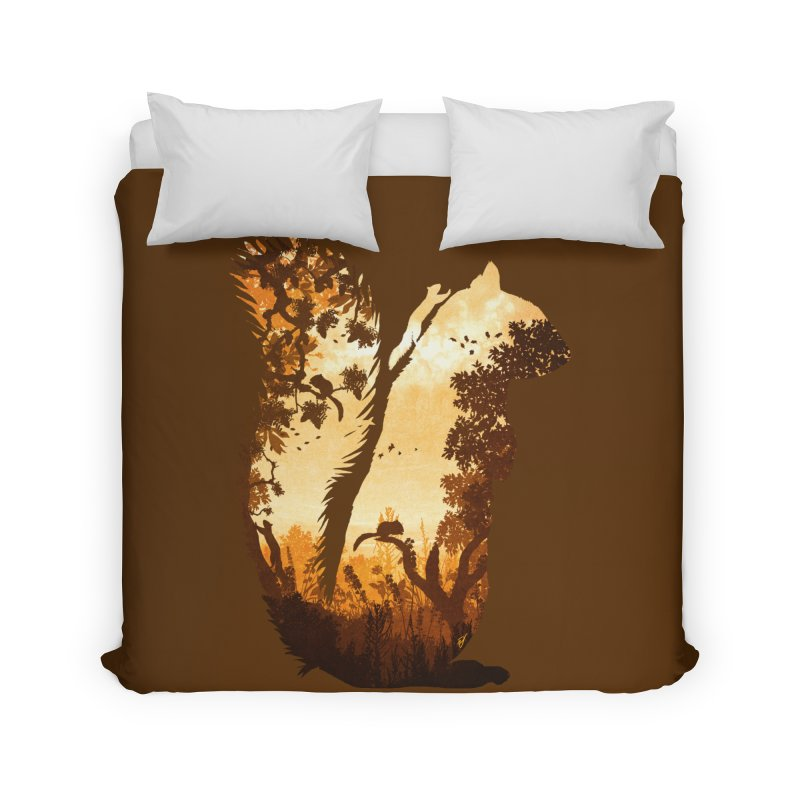 Squirrels in the Fall Home Duvet by DVerissimo's