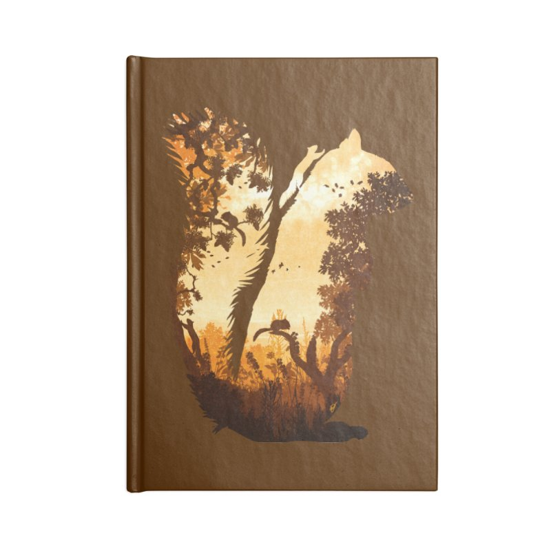 Squirrels in the Fall Accessories Lined Journal Notebook by DVerissimo's