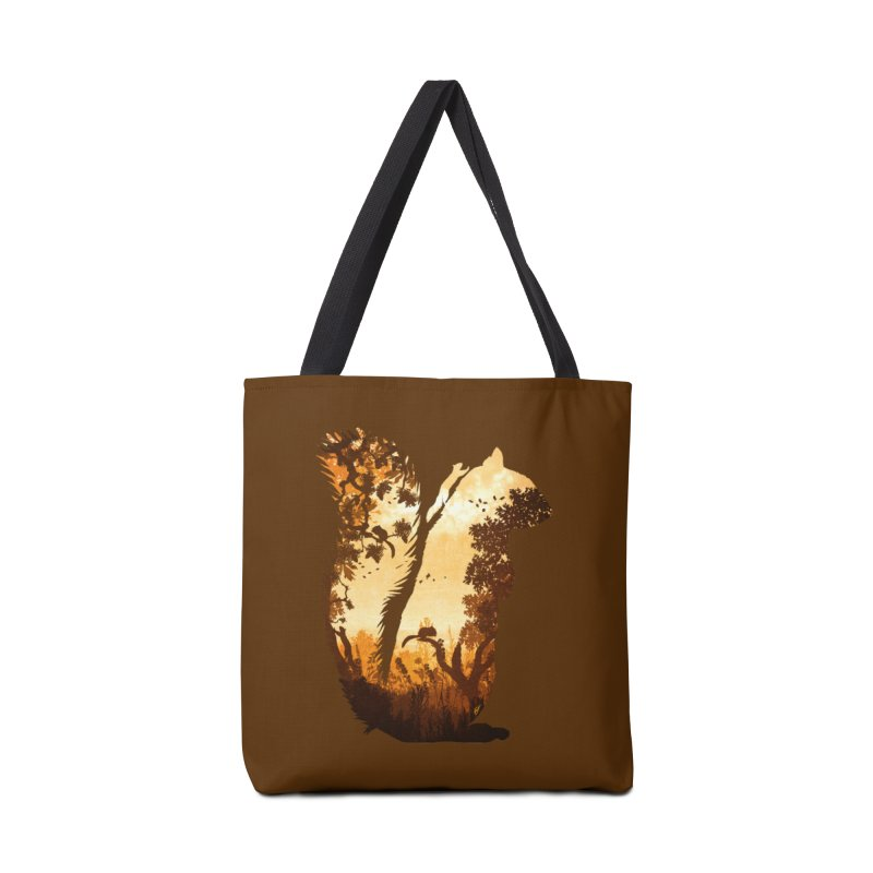 Squirrels in the Fall Accessories Bag by DVerissimo's