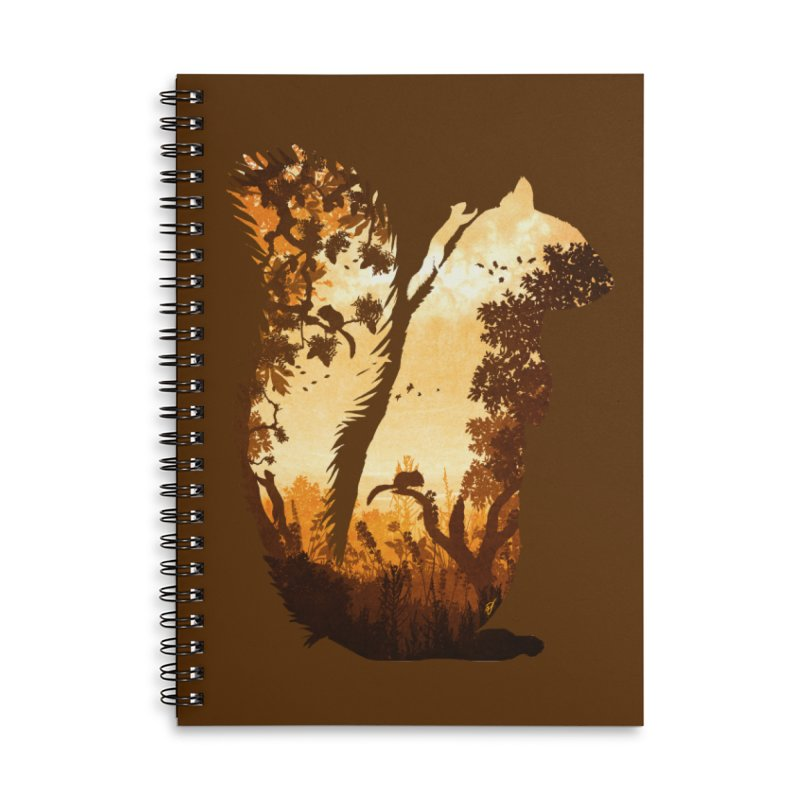 Squirrels in the Fall Accessories Lined Spiral Notebook by DVerissimo's