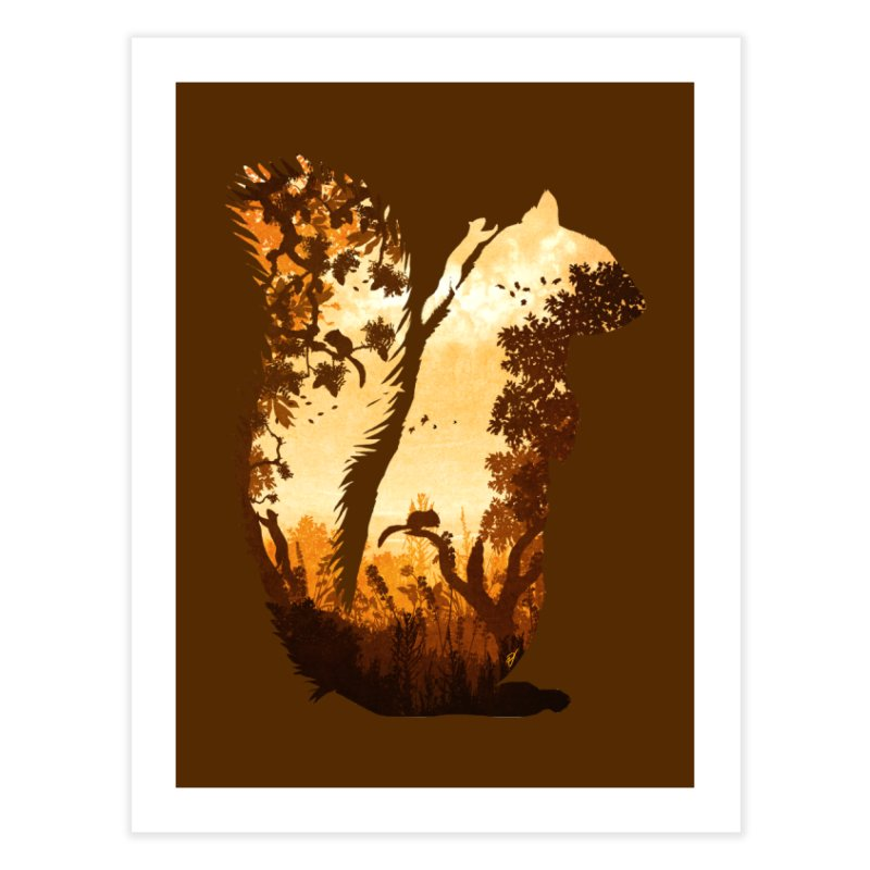 Squirrels in the Fall Home Fine Art Print by DVerissimo's
