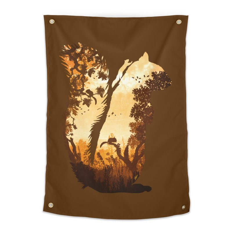 Squirrels in the Fall Home Tapestry by DVerissimo's