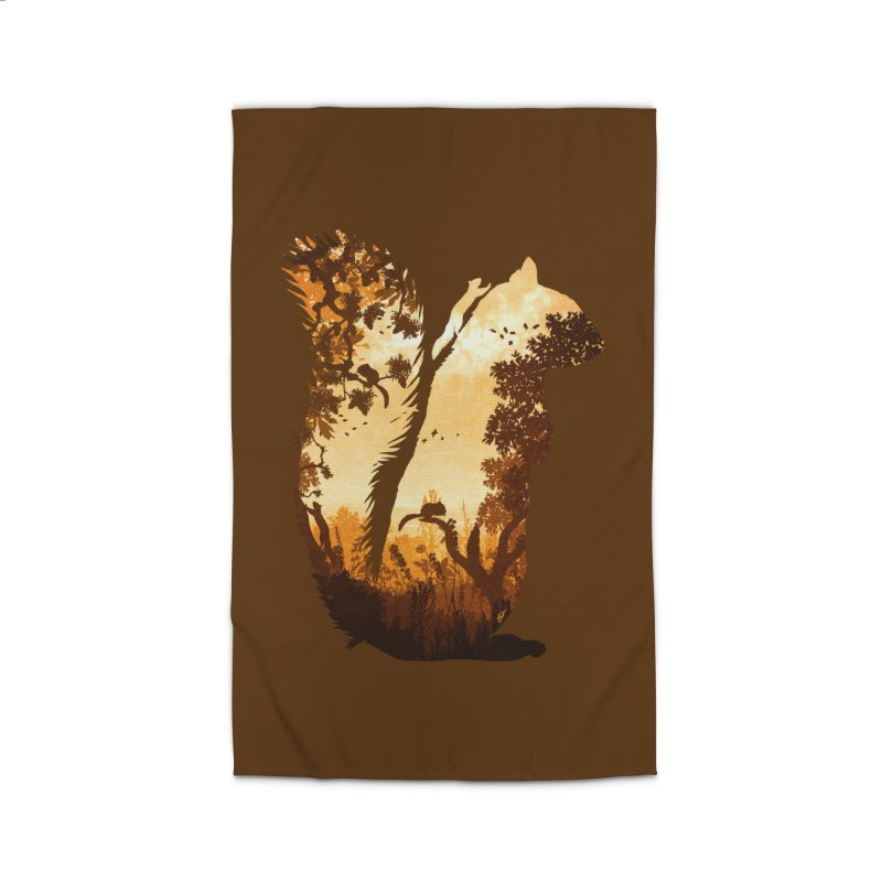 Squirrels in the Fall Home Rug by DVerissimo's