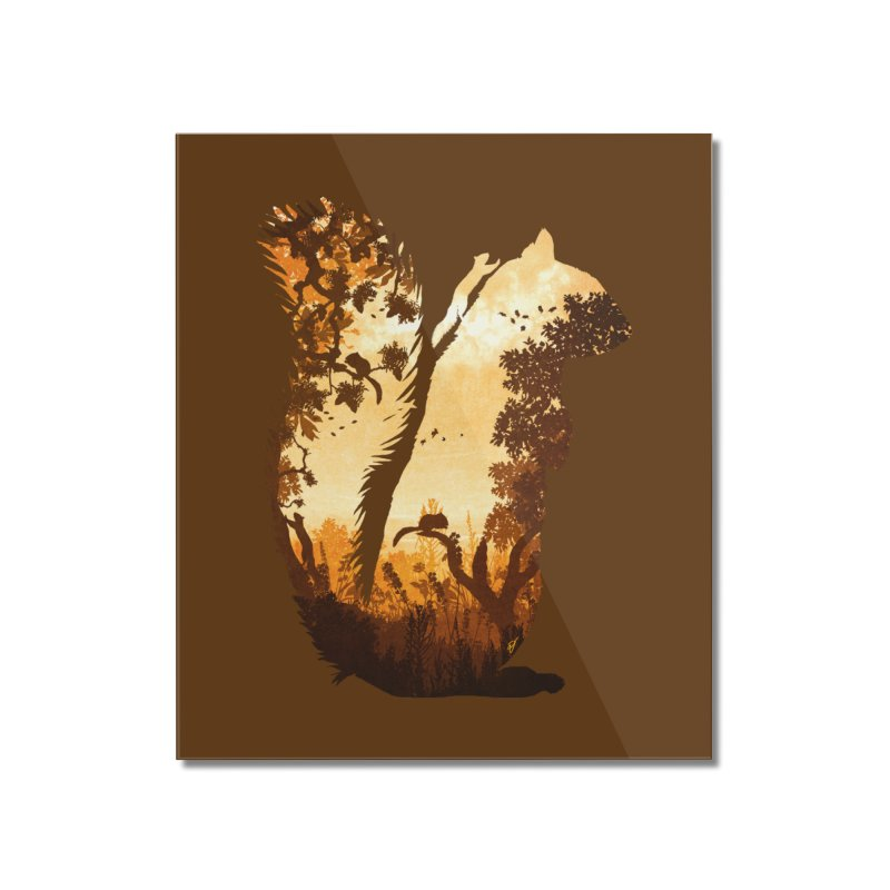 Squirrels in the Fall Home Mounted Acrylic Print by DVerissimo's