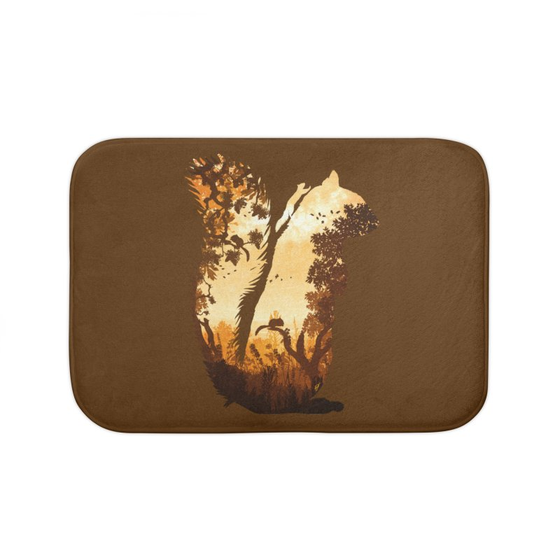Squirrels in the Fall Home Bath Mat by DVerissimo's