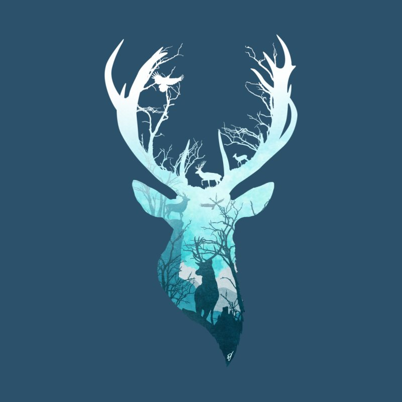 Deer Blue Winter by DVerissimo's