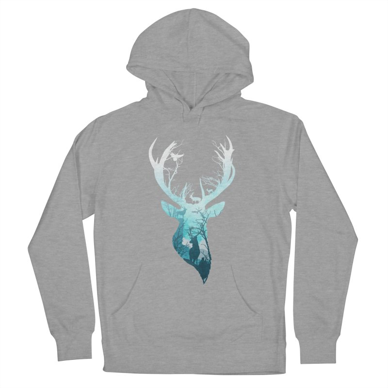 Deer Blue Winter Men's Pullover Hoody by DVerissimo's