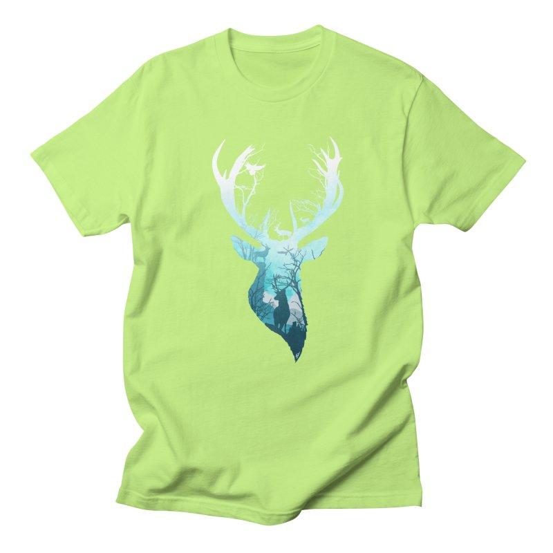 Deer Blue Winter Women's Unisex T-Shirt by DVerissimo's