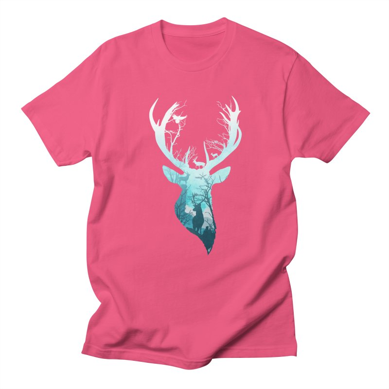 Deer Blue Winter Women's Regular Unisex T-Shirt by DVerissimo's