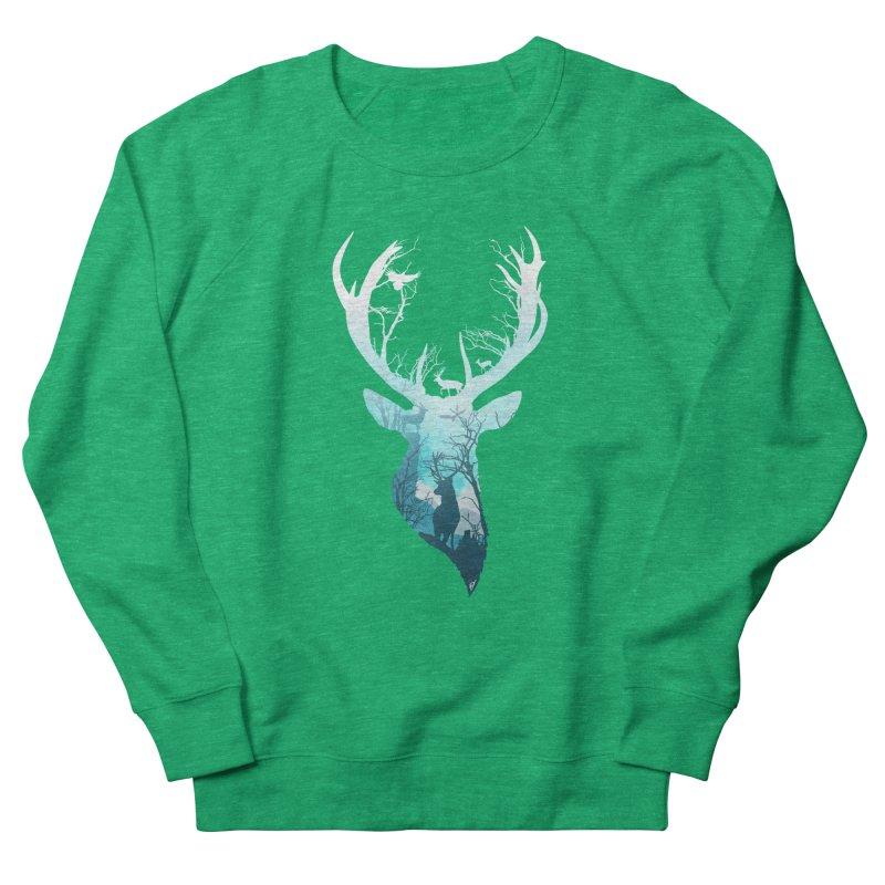 Deer Blue Winter Women's Sweatshirt by DVerissimo's