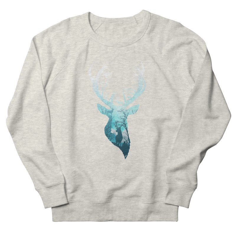 Deer Blue Winter Women's French Terry Sweatshirt by DVerissimo's
