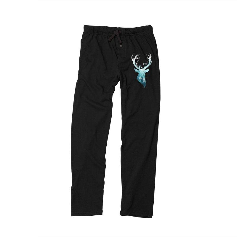 Deer Blue Winter Men's Lounge Pants by DVerissimo's