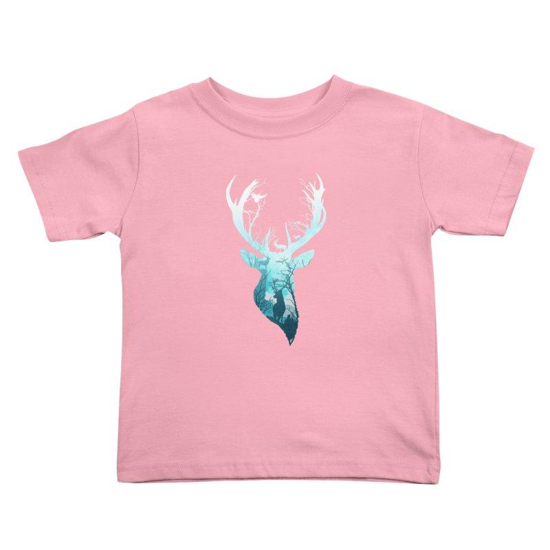 Deer Blue Winter Kids Toddler T-Shirt by DVerissimo's