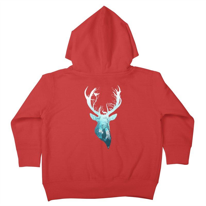 Deer Blue Winter Kids Toddler Zip-Up Hoody by DVerissimo's