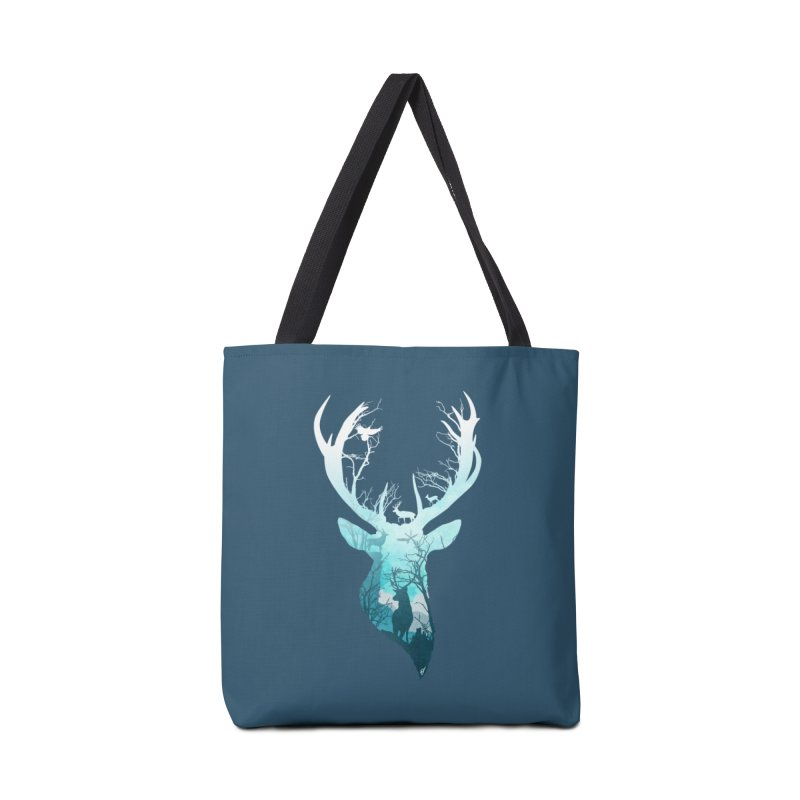 Deer Blue Winter Accessories Bag by DVerissimo's