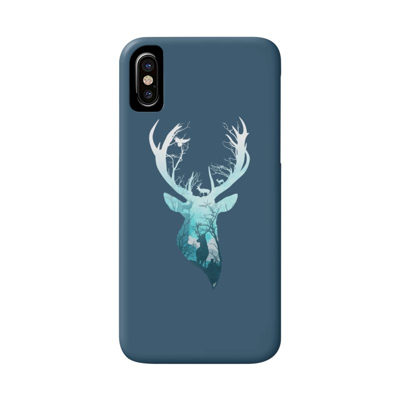 Deer Blue Winter Accessories Phone Case by DVerissimo's