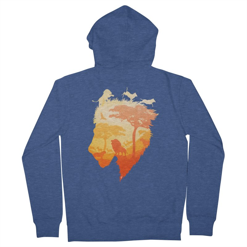 The Soul of a Lion Men's Zip-Up Hoody by DVerissimo's