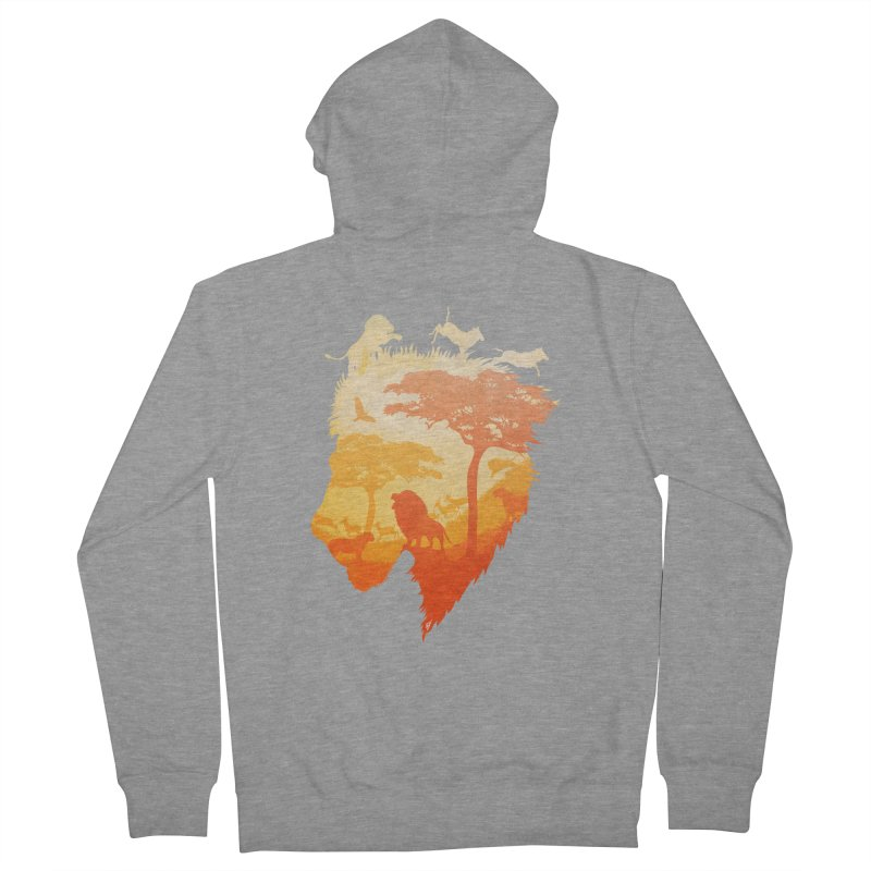 The Soul of a Lion Men's French Terry Zip-Up Hoody by DVerissimo's