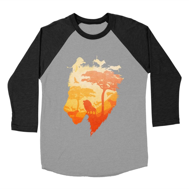 The Soul of a Lion Men's Baseball Triblend Longsleeve T-Shirt by DVerissimo's