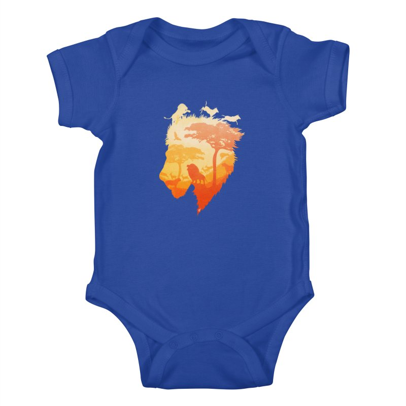 The Soul of a Lion Kids Baby Bodysuit by DVerissimo's